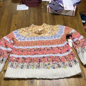 Colorful Anthropologie Knit Sweater